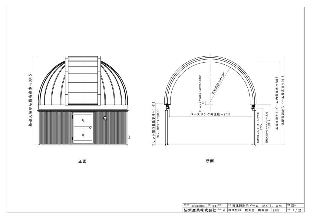 3.0mドーム観測室_概要図